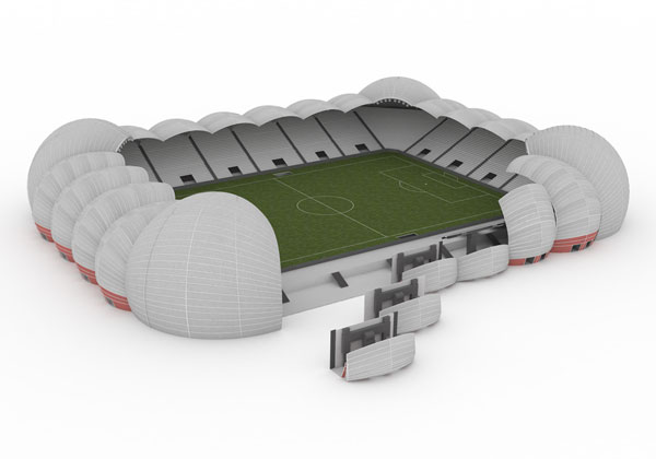 Rostislav Krones | Přemistitelný stadion