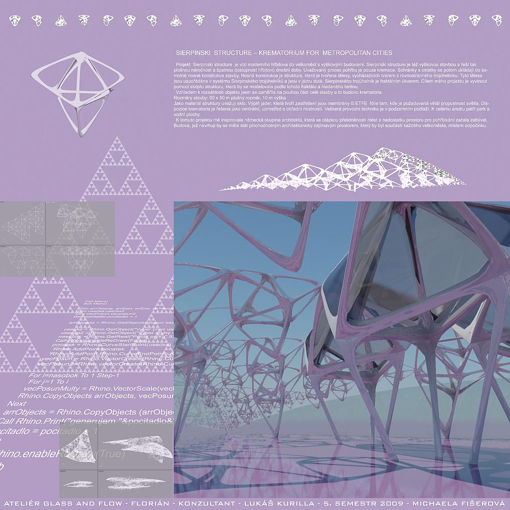 Michaela Fišerová | SIERPINSKI  STRUCTURE - KREMATORIUM FOR  METROPOLITAN CITIES