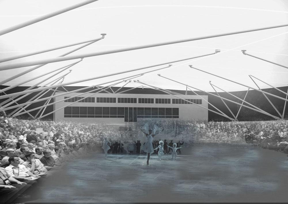 Klára Švecová | Zastřešení zimního stadionu, ostrov Štvanice