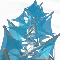 Pavel Borůvka: Tensegrity membrane tower