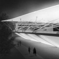Klára Švecová: Zastřešení zimního stadionu, ostrov Štvanice